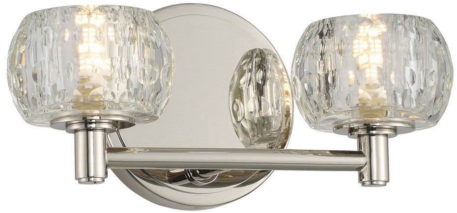 Kalco 312832PN Ella Modern Polished Nickel LED 2-Light