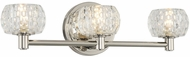 Kalco 312833PN Ella Contemporary Polished Nickel LED 3-Light Bathroom Wall Sconce