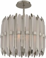 Kalco 312951PN Massina Contemporary Polished Nickel 17  Hanging Light Fixture