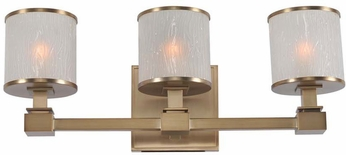 Kalco 313533BRB Destin Brushed Bronze Xenon 3-Light Bathroom Lighting Fixture