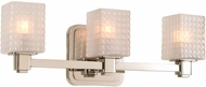 Kalco 313933PN Avanti Contemporary Polished Nickel LED 3-Light Bathroom Vanity Light