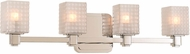 Kalco 313934PN Avanti Modern Polished Nickel LED 4-Light Bathroom Sconce