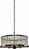 Kalco 314253SB Essex Modern Sienna Bronze 26  Drum Hanging Pendant Lighting