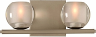 Kalco 315032SN Corona Modern Satin Nickel LED 2-Light Vanity Light Fixture