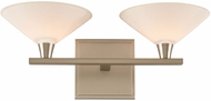 Kalco 315132SN Galvaston Satin Nickel LED 2-Light Bath Lighting Sconce