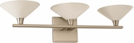 Kalco 315133SN Galvaston Satin Nickel LED 3-Light Bathroom Lighting