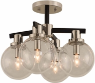 Kalco 315440BPN Cameo Modern Matte Black Finish with Nickel Accents Ceiling Light
