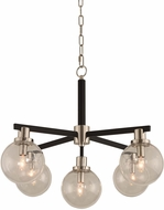 Kalco 315451BPN Cameo Modern Matte Black Finish with Nickel Accents Chandelier Lighting