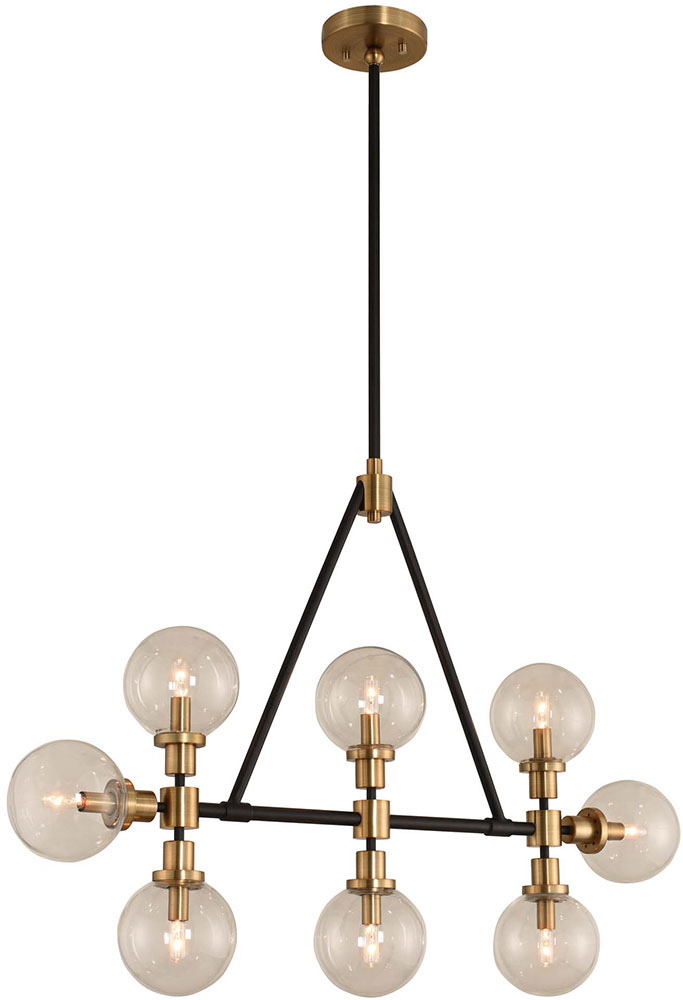 Incredible Kalco 315453Bbb Cameo Contemporary Matte Black Finish With Brushed Pearlized Brass Kitchen Island Light Download Free Architecture Designs Scobabritishbridgeorg