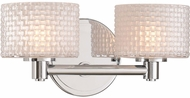 Kalco 315532CH Willow Contemporary Chrome LED 2-Light Bathroom Light