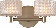 Kalco 315532SN Willow Modern Satin Nickel LED 2-Light Bathroom Lighting Fixture