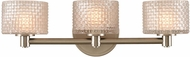 Kalco 315533SN Willow Modern Satin Nickel LED 3-Light Vanity Light