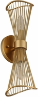 Kalco 315922NRB Aurora Modern Nordic Brass Wall Lighting Sconce