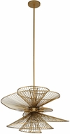 Kalco 315951NRB Aurora Contemporary Nordic Brass 26  Pendant Lighting