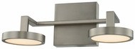 Kalco 316532SN Eaton Modern Satin Nickel LED 2-Light Bathroom Lighting