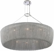 Kalco 316951PN Genevieve Modern Polished Nickel 34  Ceiling Pendant Light
