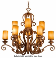 Kalco 4033 Ibiza 12-Light Traditional Glass Chandelier