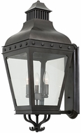 Kalco 403322AI Winchester Aged Iron Outdoor Medium Lamp Sconce