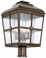 Kalco 403400AGB Sherwood Aged Bronze Exterior Post Light Fixture