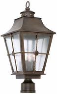 Kalco 403500AGB Belle Grove Traditional Aged Bronze Exterior Post Lighting Fixture