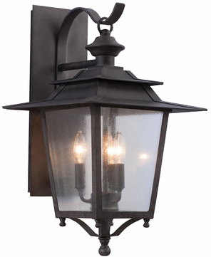 Kalco 404122AI Saddlebrook Traditional Aged Iron Exterior Large Wall Light Sconce