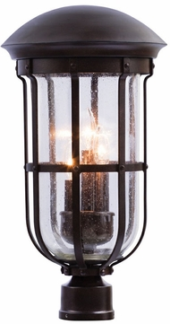 Kalco 404300BB Emerson Burnished Bronze Outdoor Lamp Post Light