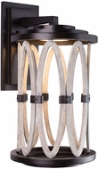 Kalco 404422FG Belmont Modern Florence Gold LED Outdoor Large Lighting Sconce