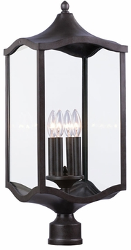 Kalco 404500AI Lakewood Aged Iron Outdoor Lighting Post Light