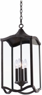 Kalco 404550AI Lakewood Aged Iron Outdoor Pendant Light Fixture