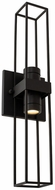 Kalco 405022MB Eames Contemporary Matte Black LED Exterior Sconce Lighting