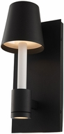 Kalco 405321MBW Candelero Modern Matte Black with White LED Light Sconce