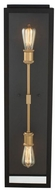 Kalco 405521BSG Ashland Modern Matte Black and Sanded Gold Outdoor Wall Lighting