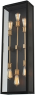 Kalco 405522BSG Ashland Modern Matte Black and Sanded Gold Exterior Sconce Lighting