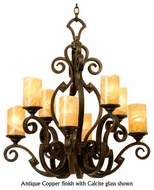 Kalco 4262 Ibiza 8-Light Traditional Glass Chandelier