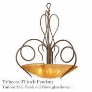 Kalco 4297 Tribecca 37 inch Glass Pendant Light