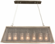 Kalco 500060CI Highland Retro Country Iron Island Light Fixture