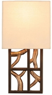 Kalco 501130BZG Hudson Modern Antique Bronze with Antique Gold Wall Sconce