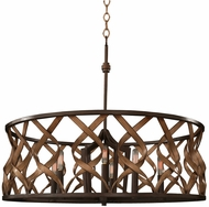 Kalco 501853MC Soho Contemporary Milk Chocolate 28  Pendant Light Fixture