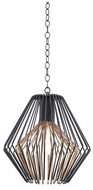 Kalco 502251BZG Metro I Contemporary Antique Bronze w/Antique Gold Accents 16  Ceiling Light Pendant