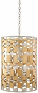 Kalco 503940JM Broadway Modern Jewel Metallic Drum Hanging Pendant Light