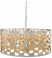 Kalco 503951JM Broadway Modern Jewel Metallic Drum Hanging Light Fixture