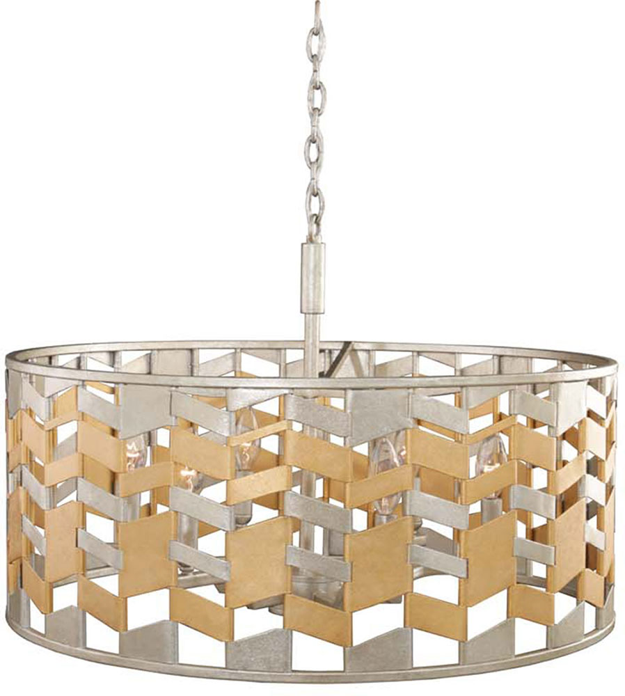 Kalco 503951JM Broadway Modern Jewel Metallic Drum Hanging Light ...