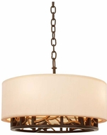 Kalco 504151BZG Hudson Bronze Gold 18  Drum Drop Ceiling Lighting