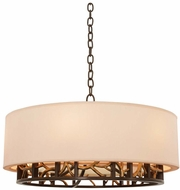 Kalco 504152BZG Hudson Bronze Gold 24  Drum Ceiling Light Pendant