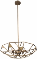 Kalco 504752PAB Esmeralda Contemporary Pearlized Antique Brass Pendant Lighting