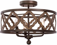 Kalco 504841BS Whittaker Modern Brownstone Ceiling Light Fixture