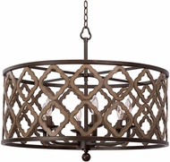Kalco 504852BS Whittaker Contemporary Brownstone Drum Hanging Pendant Light