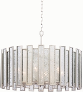 Kalco 505054TS Palisade Contemporary Tarnished Silver Drum Drop Ceiling Light Fixture