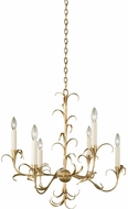 Kalco 505471OL Ainsley Oxidized Gold Leaf Chandelier Light