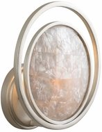 Kalco 505620SRS Garbo Contemporary Sunrise Silver Wall Sconce Lighting